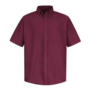 Red Kap Poplin Short Sleeve Dress Shirt - Long Sizes