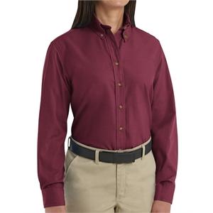 Red Kap Women's Long Sleeve Poplin Dress Shirt