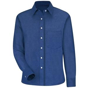 Red Kap Women's Long Sleeve Oxford Dress Shirt - Extended...