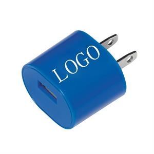 Oval shaped USB wall charger