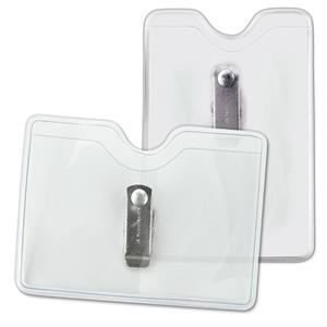 Vinyl Badge Holders with Brady Clothing-Friendly™ Clip