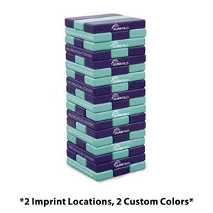 Jumbo Toppling Tower Game (2 Imprints, 2 Color Finishes)