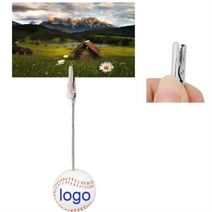 Home Office Baseball Shaped Note Paper Memo Clip