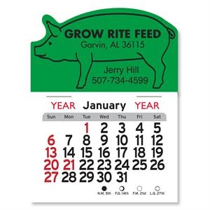 Pig Shaped Peel-N-Stick® Calendar