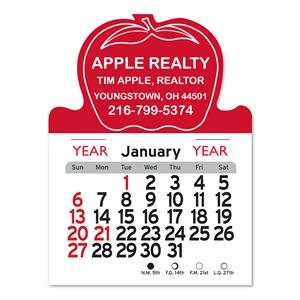 Apple Shaped Peel-N-Stick® Calendar