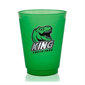 16 oz. Court Side Frosted Plastic Stadium Cups