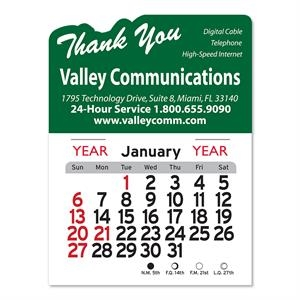 Thank You Peel-N-Stick® Calendar