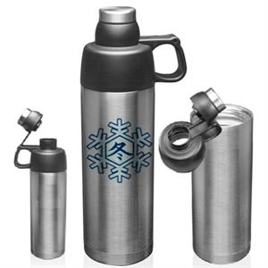 Sports Insulated Bottle Vacuum Steel Flask Silver 18 oz