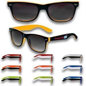 Sunglass - Vintage Two tone Smoke Sunglasses