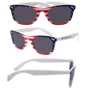 Patriotic USA Sunglass - Vintage American Flag Sunglasses