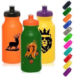 Plastic Water Bottles - 20 oz Sports Bottle w/ Custom Logo