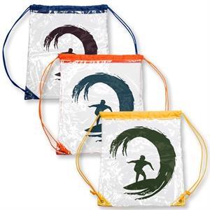 Clear PVC Drawstring Backpack w/ Matching Drawstring