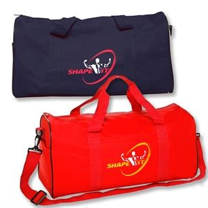 Polyester Travel Duffel Bag w/ Front Pocket