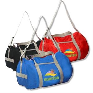 Economy Polyester Duffel Bags w/ Large Compartment