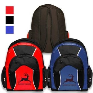 Backpacks - Two-Tone Travel Backpack w/ Padded Interior