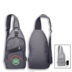 Crossbody Sling Traveller Backpack w/ USB Port