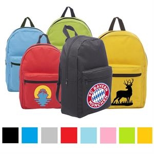 Economy Polyester Backpack w/ Adjustable Webbing Straps