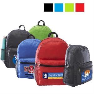 Promotional Polyester Backpack w/ Side Mesh Pocket