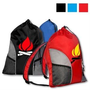 Gym Backpack w/ Drawstring Closure & Mesh Front Pockets