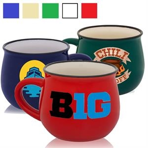 Classic Pottery Ceramic Coffee Mug 12 oz. Glossy Coffee Mugs
