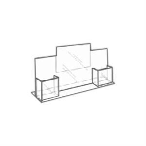 """8.5\""""w x 11\""""h Clear Acrylic Combo Table Tent - Ad Frame"""