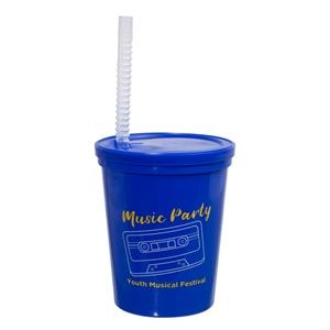16 OZ. LITTLE SIPS STADIUM CUP WITH STRAW