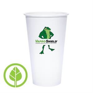 20 oz. Eco-Friendly PLA Single Wall White Paper Hot Cup