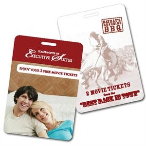 Movie Ticket Dog Tag Card