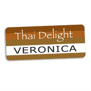 Long Rectangular Name badge