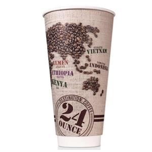 24 oz Disposable Paper Insulated Cup