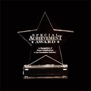 Eclipse (tm) - Acrylic Star Award With Base