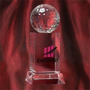 Optic Crystal Golf Trophy Award
