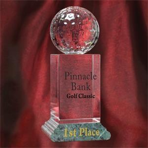 Crystal Golf Trophy Award
