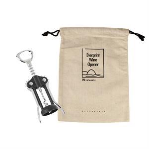 Premium Wing Corkscrew bottle opener with Linen Pouch