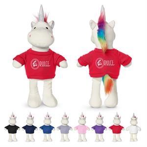 "8.5"" Plush Unicorn with T-Shirt"