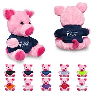 """7"""" Plush Pig with T-Shirt"""
