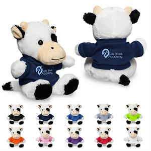 """7"""" Plush Cow with T-Shirt"""