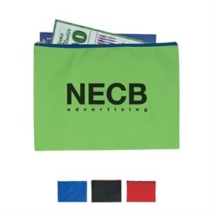 Non-Woven Document Sleeve with Zipper