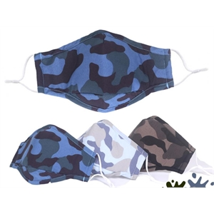 Washable Cotton mask 2 layers with Camo pattern