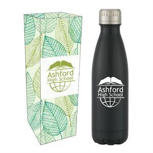16 Oz. Matte Black Stainless Steel Bottle With Custom Box