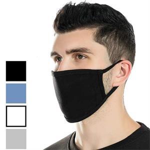 USA Made 3-Layer Reusable Cotton Face Mask w/ Elastic Loop