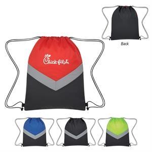 Reflective Stripe Drawstring Sports Pack