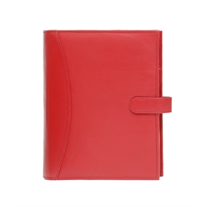 Refillable Journal with book, card pockets, strap