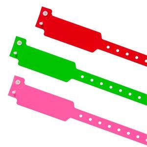 Stock Wide Face Plastic Wristband