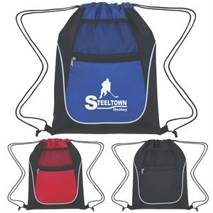 Drawstring Sports Pack With Dual Pockets