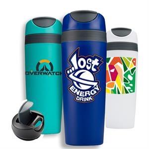 16 oz Travel Tumbler Mug w/ Snap Seal Top & Custom Imprint