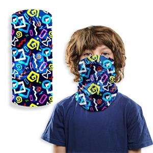 Kids 2-Layer Reusable Kids Face mask Full Color Neck Gaiter