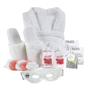 Luxury Robe, Slippers, Eye Mask Spa Gift -A Great Value!