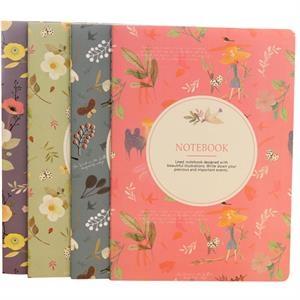 "4 1/2"" x 3 1/2"" Custom Cover Paper Notebook"