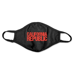 On Sale Heather Black Reusable Adult Face Mask - Full-Color